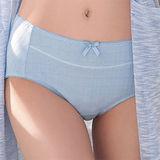 【華歌爾】有機棉環保染M-LL中腰三角褲(鳶尾藍)