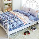 Picasso-大聯盟-雙人六件式舖棉兩用被床罩組
