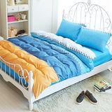Picasso-牛仔夏天-雙人六件式舖棉兩用被床罩組