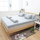 【輕鬆睡-EzTek】新雙層竹炭釋壓記憶床墊(單人8cm全平面)