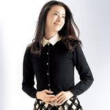 日本Portcros 現貨-背部鏤空蕾絲拼接針織外套(共兩色)