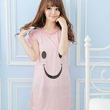 Wonderland ST4-5淡定微笑牛奶絲居家洋裝(粉紅)