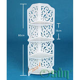 【Osun】DIY木塑板置物架 歐式白色巴洛克經典款雕花轉角架(CE-178-80ZJ)