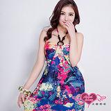 【天使霓裳】罩衫 皎潔浪漫 泳裝比基尼外搭罩衫(紫彩F)