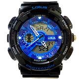 LOTUS 黑潮來襲運動時尚電子腕錶-52mm/防水/禮物/G-SHOCK/現貨/LS-1026-15