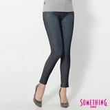 SOMETHING LADIVA窄直筒合身牛仔褲-女-原藍磨