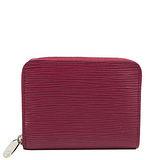 Louis Vuitton LV M60383 EPI 水波紋皮革信用卡拉鍊零錢包.紫紅 預購