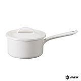 月兔印-琺瑯單手醬汁鍋(白.16cm)