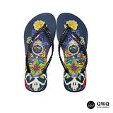 【QWQ】創意設計夾腳拖鞋-The Rose-黑b(無鑽)