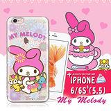 三麗鷗SANRIO授權正版 My Melody 美樂蒂 iPhone 6s plus 5.5吋 i6+ 透明軟式保護套 手機殼(郊遊)