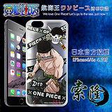 日本東映授權正版航海王 iPhone 6/6s i6s 4.7吋 透明軟式手機殼(封鎖索隆)