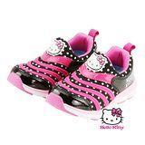 【MODAbobo】Hello Kitty 中大童段 新款KITTY毛毛蟲運動鞋-黑 T6S8-716224