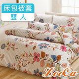 【LooCa 】花語耐用柔絲絨雙人四件式被套床包組