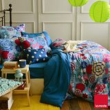 【活動】La mode寢飾 花雨紛飛環保印染精梳棉兩用被床包組(單人)