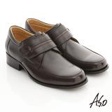 【A.S.O】舒活系列 撞色棉羊皮魔鬼氈紳士鞋(咖啡)