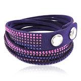 SWAROVSKI Slake水晶鑲嵌手鏈/手環-紫色