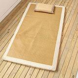 日式和風仿拉菲草抗菌涼感兩用床墊(單人) 可折疊易收納,四季皆宜使用!