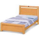MY傢俬 橫紋簡約檜木色3.5尺實木單人床架(不含床墊)