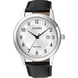 CITIZEN Eco-Drive光動能石英錶-銀/40mm AW1231-07A