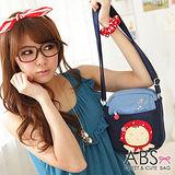 ABS貝斯貓-可愛貓咪手工 小型側背包/肩背包(海洋藍)88-163