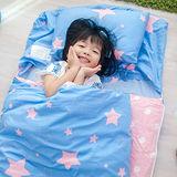 OLIVIA  星晴 粉藍 100%精梳純棉 舖棉兩用加大型兒童睡袋