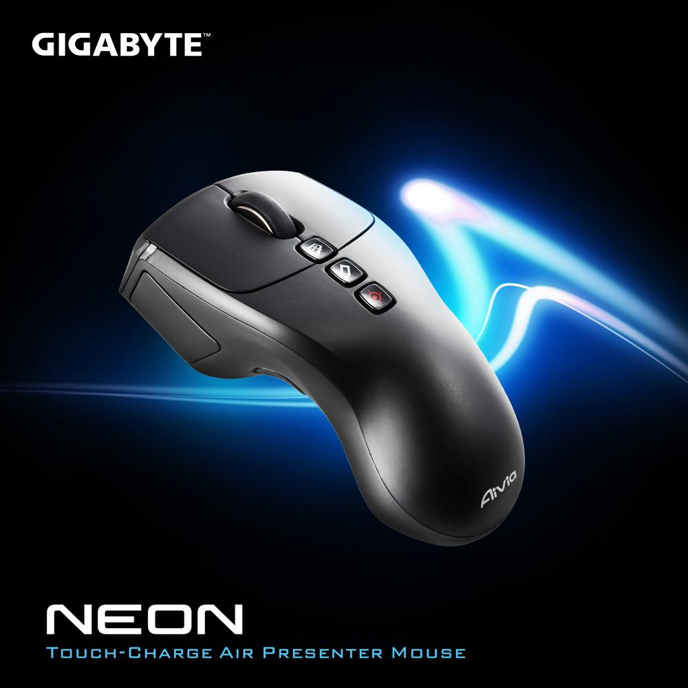 技嘉 GIGABYTE Aivia Neon 接觸充電式雷射簡報飛鼠