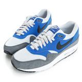 NIKE(男)AIR MAX 1 ESSENTIAL 經典復古鞋-藍灰白-537383404