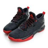 adidas(男)籃球鞋-黑紅-F37124