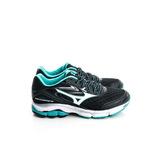 MIZUNO 美津濃 女鞋 慢跑鞋-黑綠-J1GD164406