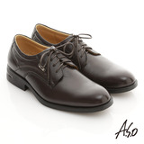 【A.S.O】頂級氣墊系列 綿羊皮綁帶奈米紳士鞋(咖啡)