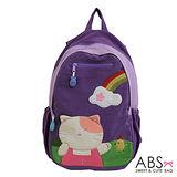ABS貝斯貓 Rainbow&Cat 拼布雙肩後背包(葡萄紫) 88-169