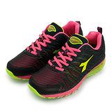 【女】 DIADORA 專業氣墊慢跑鞋 鯊魚概念系列 黑桃黃 2792