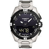 TISSOT T-TOUCH EXPERT SOLAR 鈦金屬太陽能觸控腕錶-黑/45mm T0914204405100