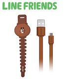 LINE FRIENDS 數位傳輸充電線 USB 2.0-貪吃熊大 (LN-CB04BN)