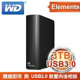 WD 威騰 Elements Desktop 3TB 3.5吋 USB3.0 外接式硬碟