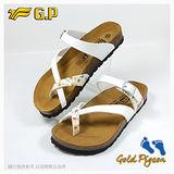 【G.P 休閒個性柏肯鞋】W763-80 白色 (SIZE:35-39 共二色)