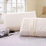 【義大利Famttini-舒雅幽境】大尺寸AA級蜂巢平面天然乳膠枕-2入