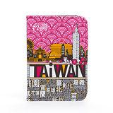 TAiWAN 護照套-梅紅