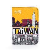 TAiWAN 護照套-澄黃