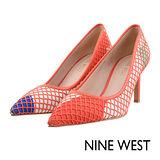 NINE WEST-網布暈染尖頭高跟鞋--甜心橘