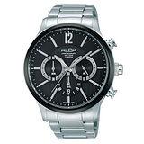 ALBA-商務行動專業三眼計時腕錶-黑-45mm-VD53-X191D(AT3723X1)