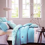 《KOSNEY 暗香疏影》加大100%天絲全舖棉四件式兩用被床包組