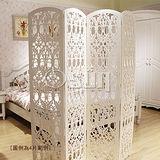 【Osun】DIY木塑板立式屏風-愛心款