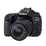 Canon EOS 80D 18-55mm IS STM (公司貨)-加送32G記憶卡+專用電池X2+專用快門線+專用遙控器+保護鏡+大吹球清潔組+拭鏡筆+熱靴蓋+HDMI+專用相機包