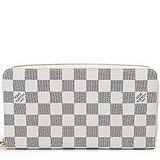 Louis Vuitton LV N60012 白棋盤格紋護照信用卡拉鍊長夾 預購