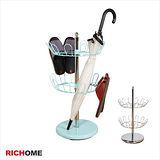 【RICHOME】日式旋轉鞋叉架/達也多用途鞋架