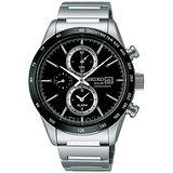 SEIKO 簡約方程式太陽能三眼男用腕錶-40mm/ V172-0AP0A(SBPY119J)