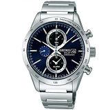 SEIKO 湛藍時尚太陽能三眼男用計時腕錶-40mm/V172-0AP0L(SBPY115J)