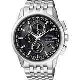 CITIZEN Eco-Drive 萬年曆電波腕錶-黑/43mm AT8110-61E