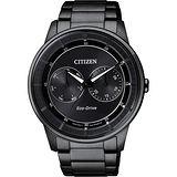 CITIZEN Eco-Drive 率性爵士風格腕錶-IP黑/42mm BU4005-56H